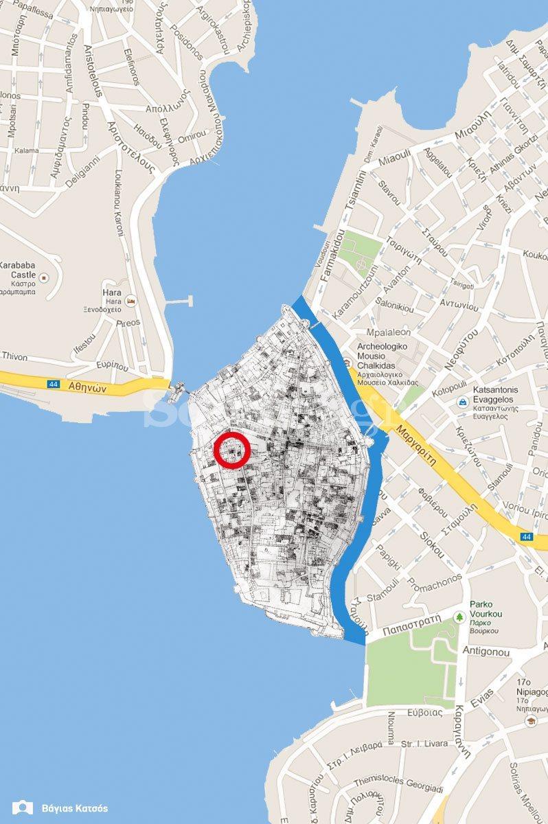 2-Οικία-οδού-παίδων-Χαλκίδα-τουρκοκρατία-και-μεταβυζαντικό-σπίτι-χάρτης