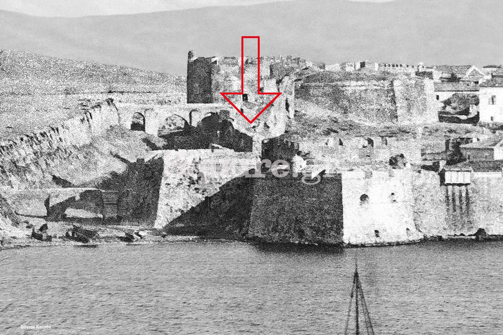 Ενετικό-Τείχος-κάτω-από-επιμελητήριο-Χαλκίδας-negroponte-τάφρος-τείχους