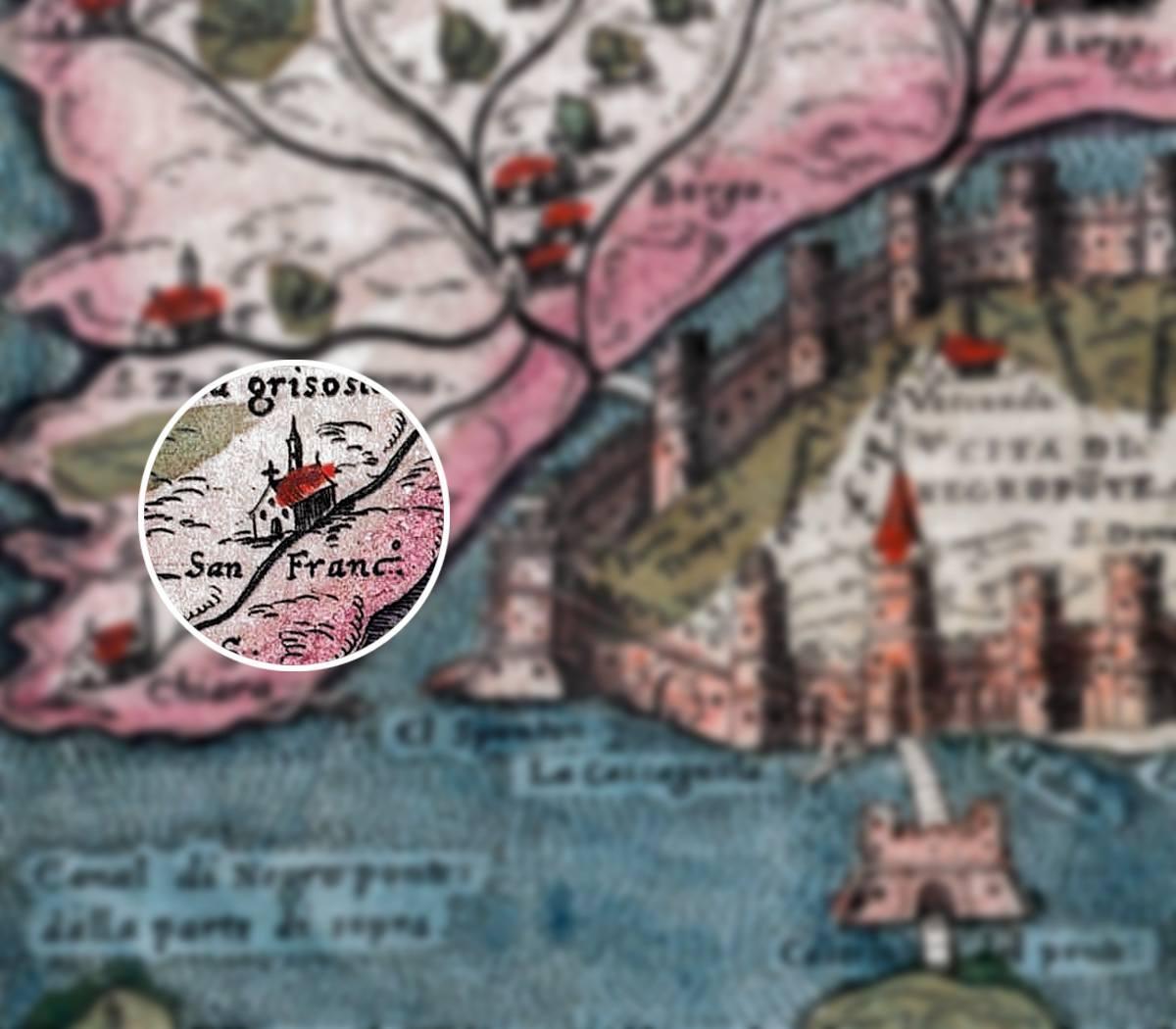 1-Αγιος-Φραγκίσκος-στη-θέση-του-Αγίου-Δημητρίου-Χαλκίδας-τοπογραφικό-του-1840-πάνω-σε-σύγχρονο-χάρτη-της-Χαλκίδας