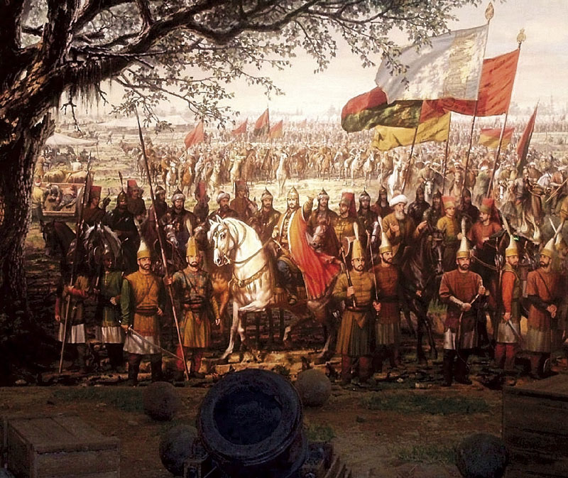 1-Ο-Μωάμεθ-ο-Β-επιθεωρεί-τα-στρατεύματα-του-κατά-τη-πολιορκία-του-Νεγροπόντε