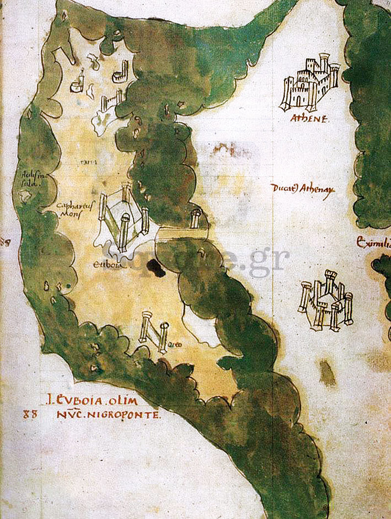 17-Χάρτης-Εύβοιας-Έργο-του-Cristoforo-Buondelmonti-με-τίτλο-Insularum-Archipelagi-1420-Πηγή-Ίδρυμα-Αικατερίνης-Λασκαρίδη