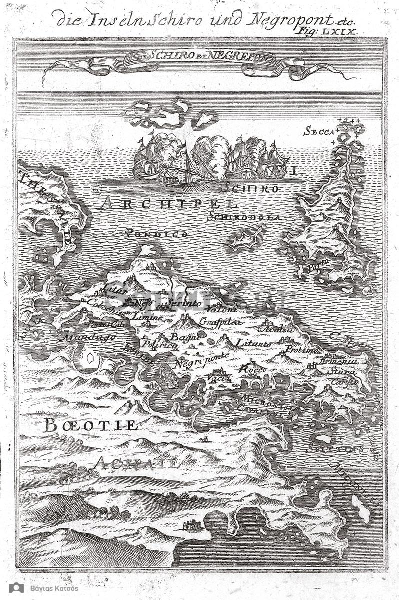 6-Το-νησί-της-Εύβοιας,-χαλκογραφημένος-χάρτης-του-Mallet,-1683