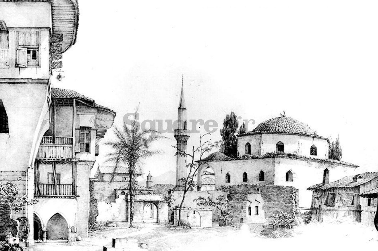 13-Λ-Φ-Κλέντσε-Αυλή-σπιτιού-στη-Χαλκίδα-με-τζαμί-1834