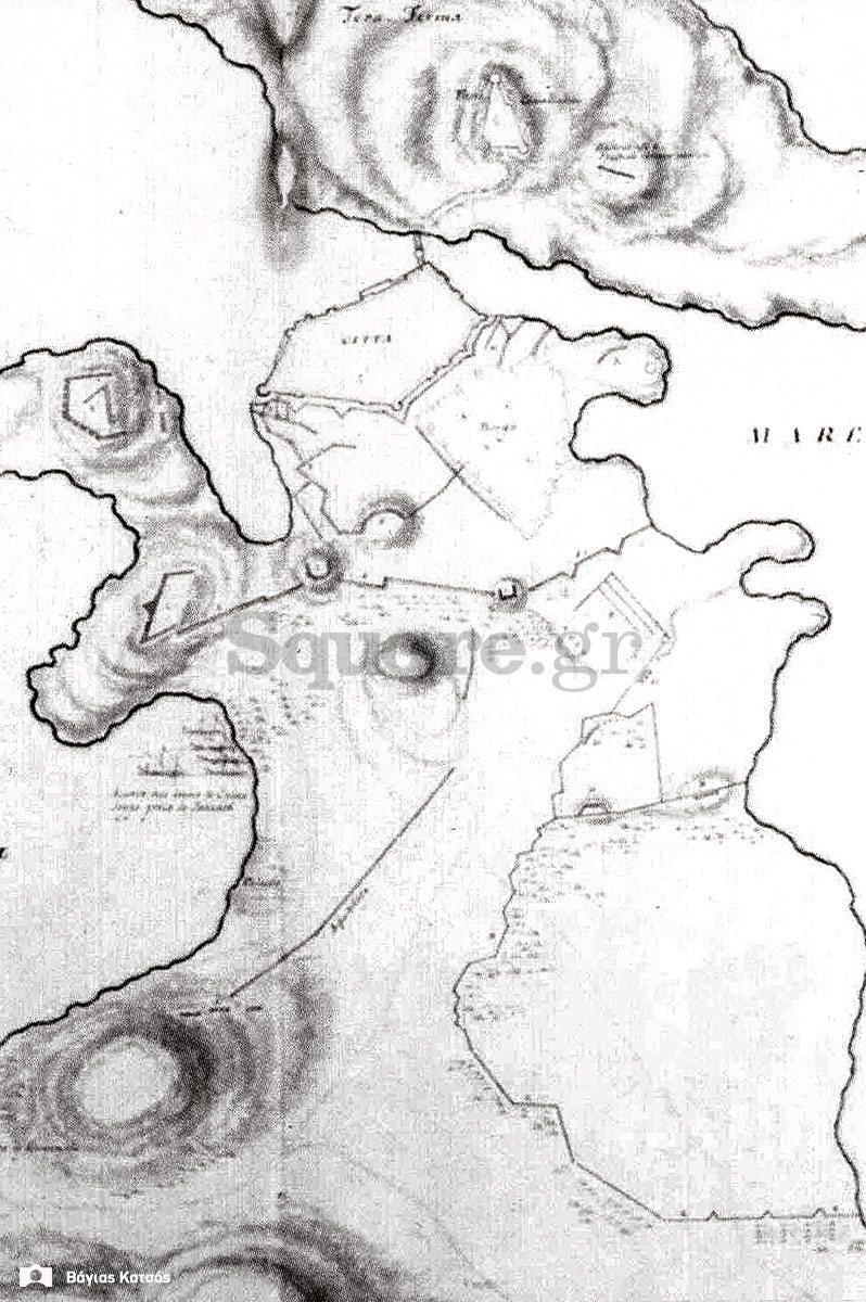 4-Σχεδιάγραμμα-της-πολιορκίας-του-Νεγροπόντε-1688-Γεννάδειος-Βιβλιοθήκη-Αθηνών-Συλλογή-Grimani-πίνακας-XXXV