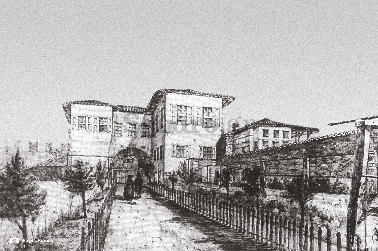 47-Σπίτια-Κοκκίνη-Οικία-Μένσελ-Αγνώστου-ζωγράφου-σχεδίασμα-με-μολύβι-final-square-logo