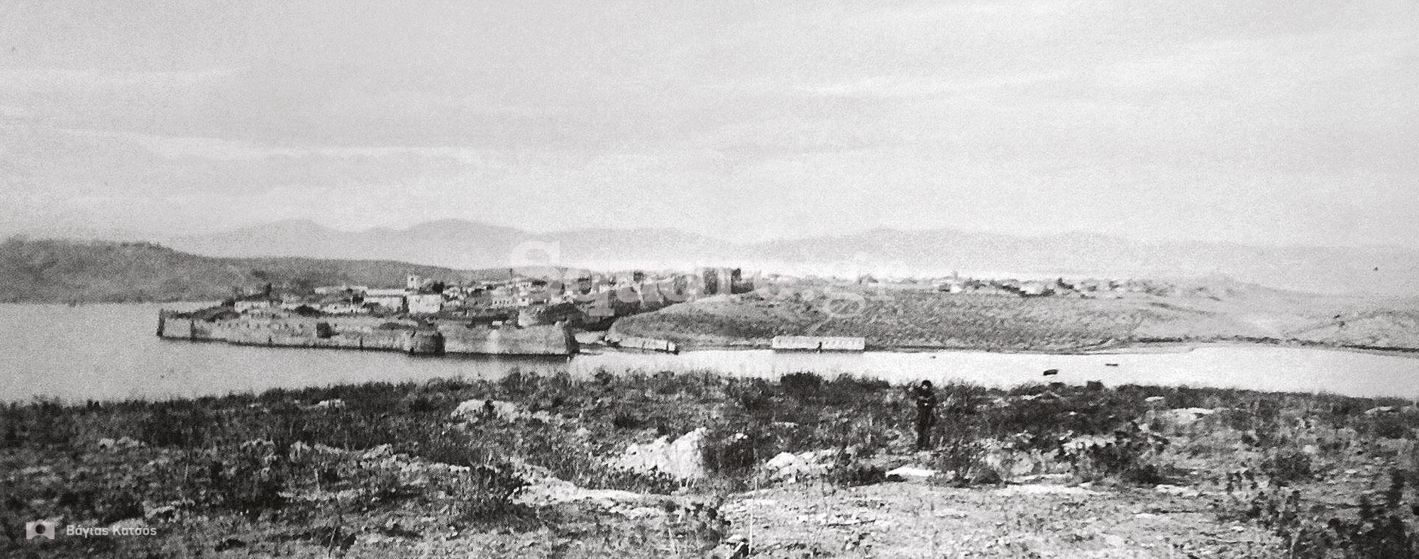 2-ΠΑΝΟΡΑΜΑ-νότιων-τειχών-Αποτελούμενο-απο-2-μέρη,τυπώματα-αλμπουμίνας-επικολημένη-σε-χαρτόνι-1885-του-Μένσελ
