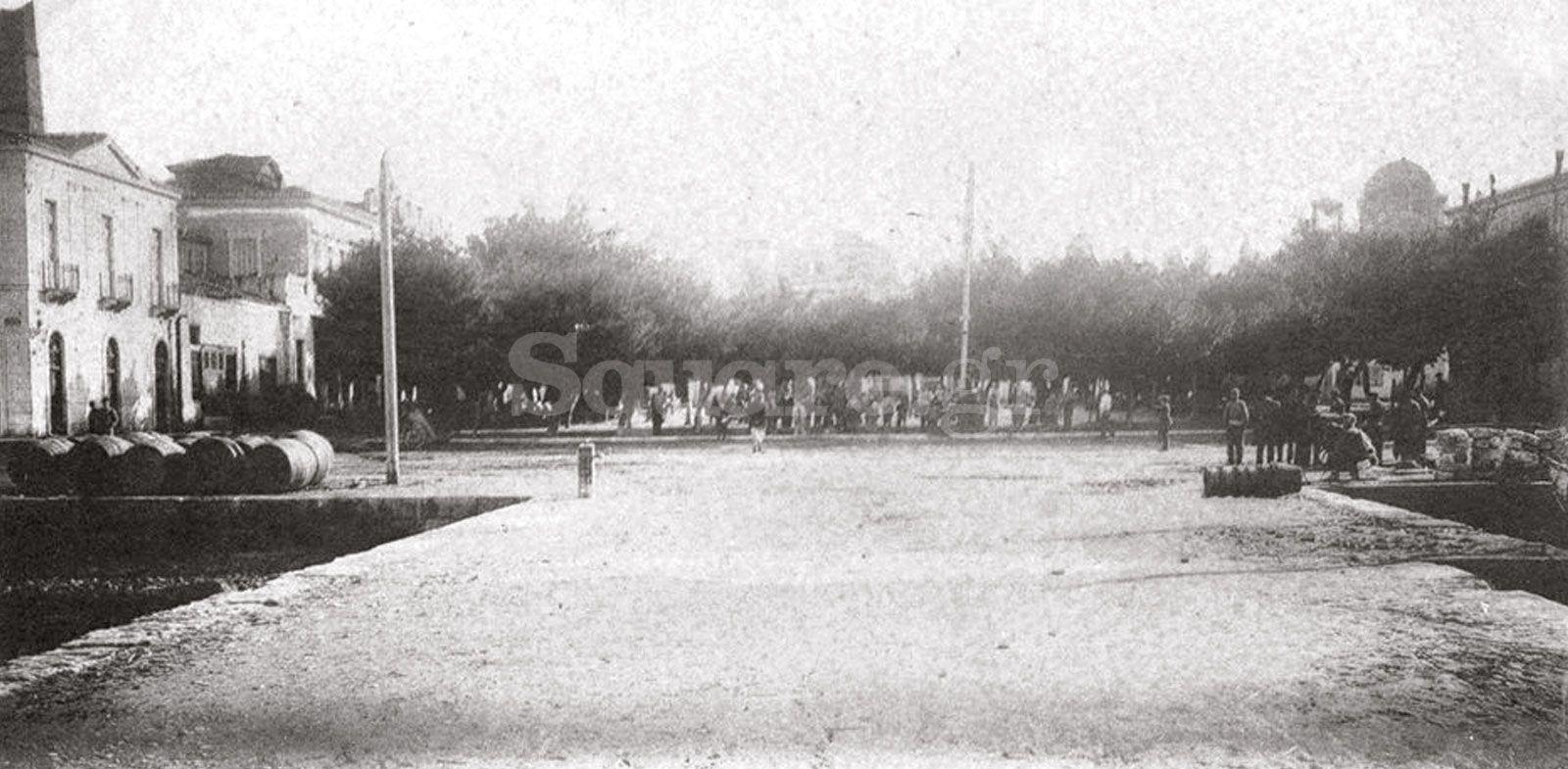2-61-Το-Παράλιον-αρχές-του-20ου-αιώνα-πρόχειρο-καμπαναριό-του-Αγίου-Νικολάου-Ιωαννίδης-ΕΕΣ