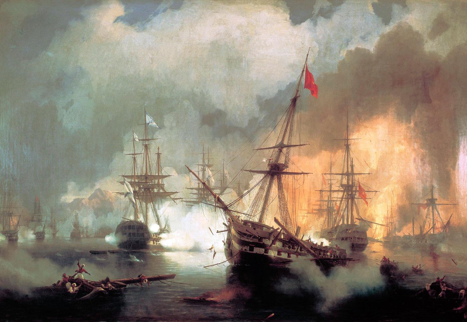 5-Η-Ναυμαχία-του-Ναυαρίνου,-Ιβάν-Αϊβαζόφσκι-1-Ιανουαρίου-1846