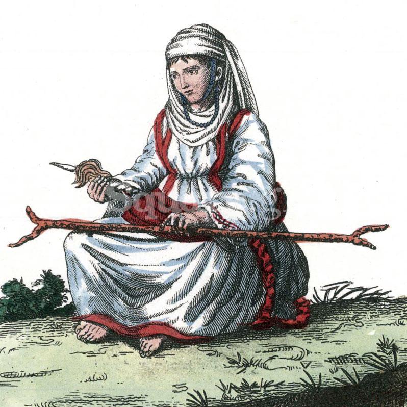 5-Jacob-Ludwig-Salomon-Bartholdy,-Voyage-en-Grece,,,-1807-jeune-Albanause-de-Lithada