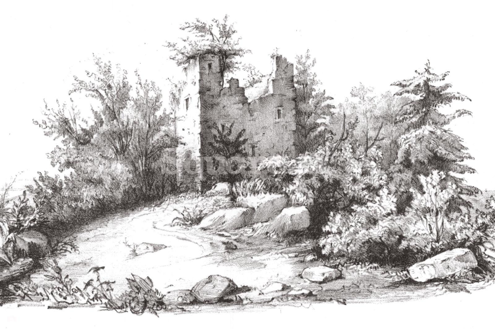 8-Jean-Alexandre-Buchon,-Nouvelles-recherches-historiques-sur-la-principaute-francaise-de-Moree,,,-1843-Ruines-Achmet-Aga