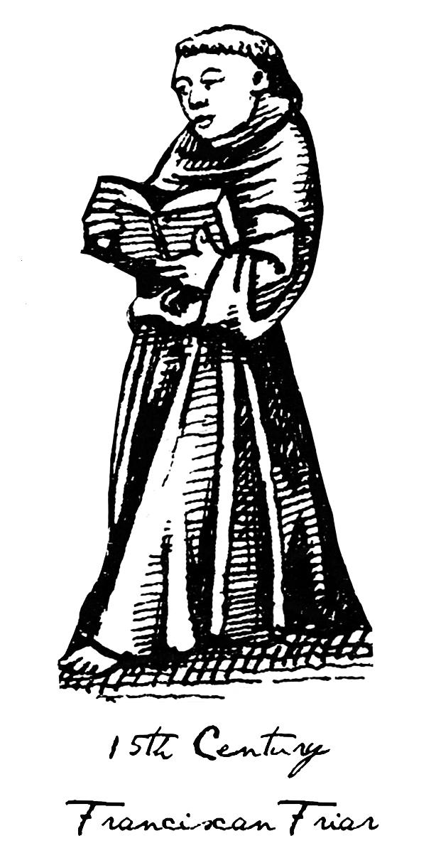 2 Χαρακτηριστική μορφή μοναχού του θρησκευτικού Τάγματος του Αγίου Φραγκίσκου, τον 15ο αιώνα