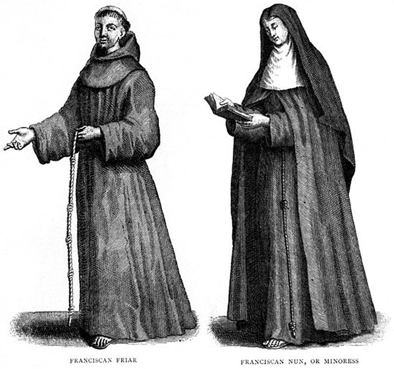 4-Σχεδιαστικές-απεικονίσεις-Φραγκισκανού-αδελφού-και-μοναχής-της-«Αγίας-Κλάρας»