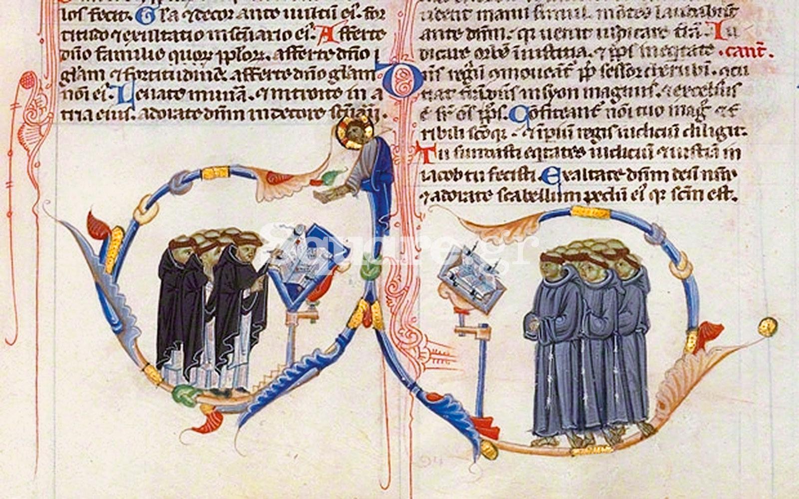 6-μοναχοί-του-Τάγματος-των-Δομινικανών-και-δεξιά-Φραγκισκανοί-μοναχοί