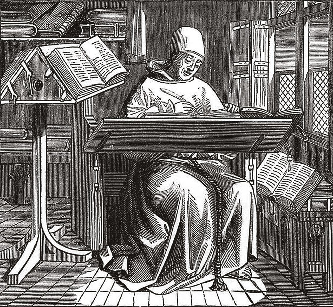 7-Δομινικανός-μοναχός-εργάζεται-στο-«scriptorium»-της-μονής-του