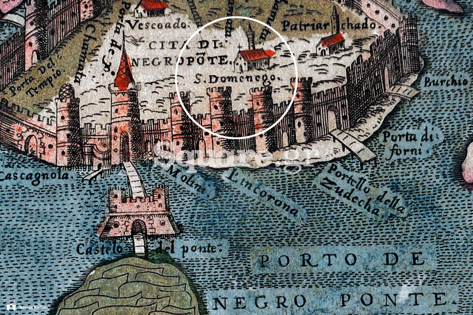 8-Λεπτομέρεια-από-τον-χάρτη-του-Simon-Pinargenti-του-1573-«Cita-di-Negroponte»