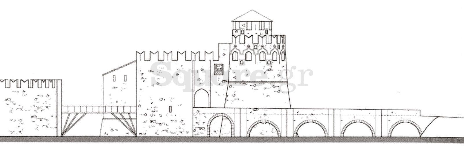 12-Εικόνα-10γ-Γέφυρα-Ευρίπου-Αναπαράσταση-1462-Βόρεια-όψη