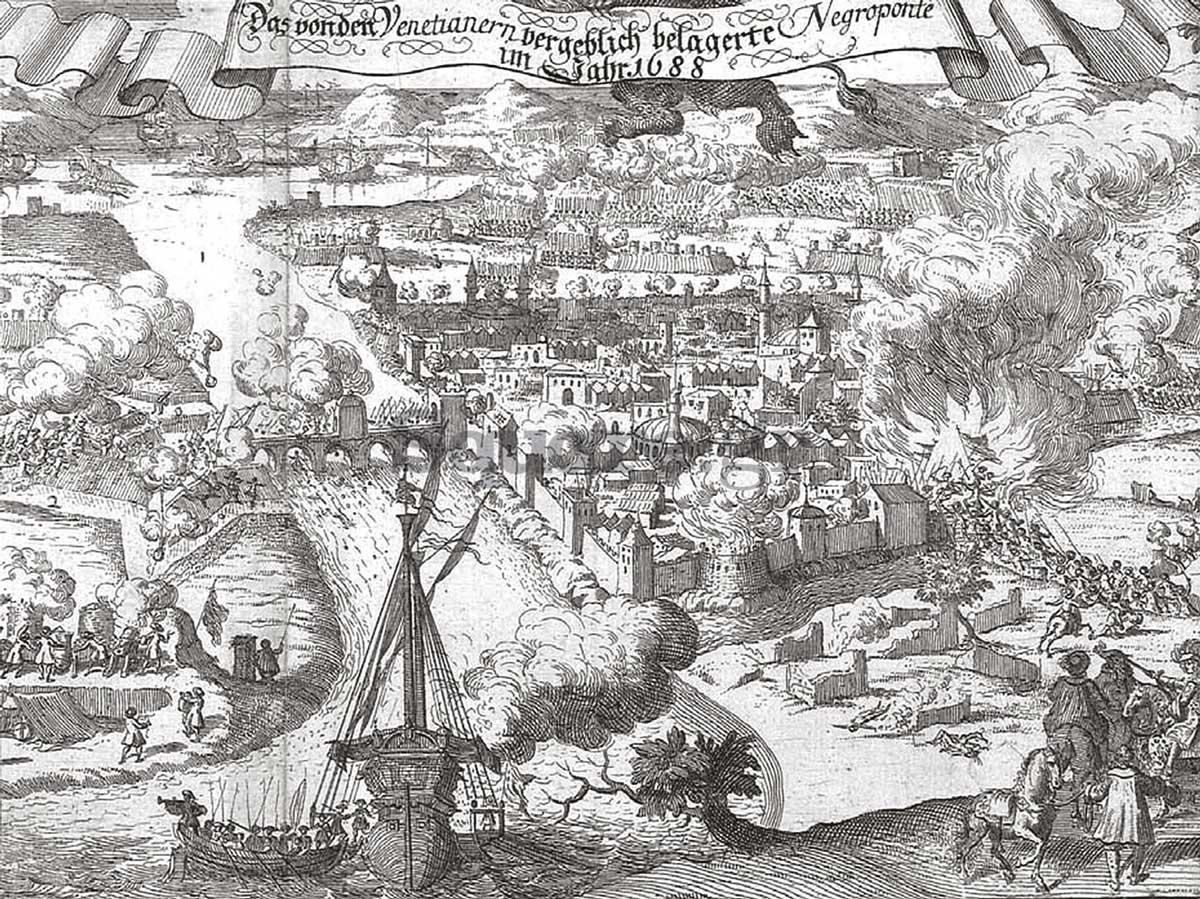 9-Απεικόνιση-της-αποτυχημένης-πολιορκίας-της-Χαλκίδας-από-τον-Φραντσέσκο-Μοροζίνι-(Francesco-Morosini,-1619---1694),-το-1688