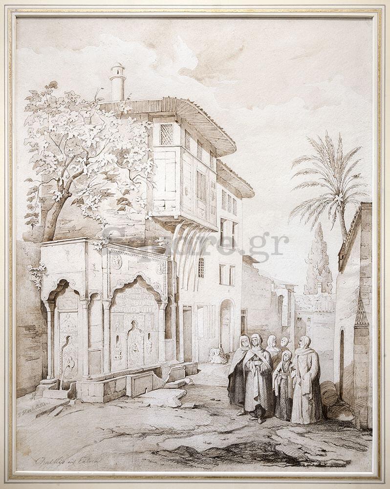 1-Άποψη-γειτονιάς-της-Χαλκίδας-κατά-τους-οθωμανικούς-χρόνους,-J-Mochstaller
