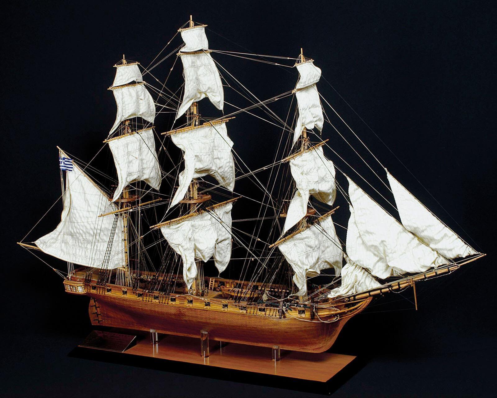2-Ομοίωμα-κορβέτας,-Ναυτικό-Μουσείο-της-Ελλάδος