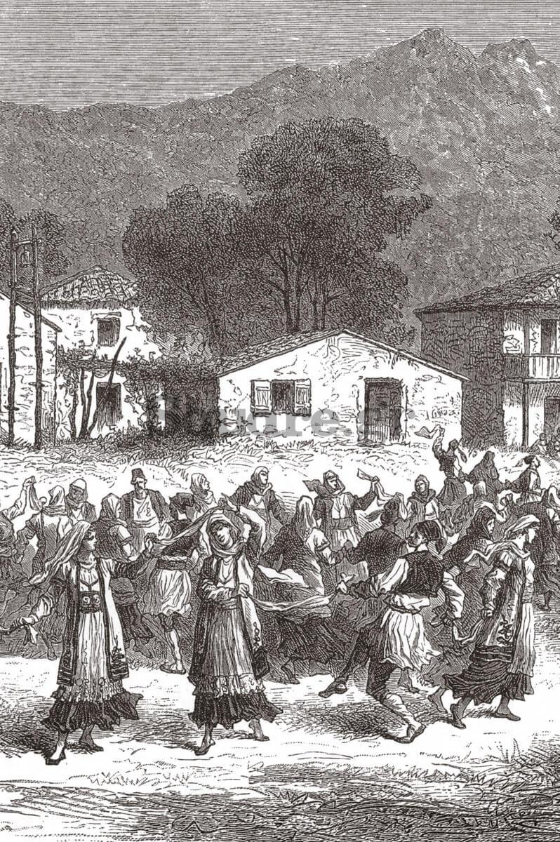 5-Λεπτομέρεια-από-σχέδιο-του-Amand-Freiherr-von-Schweige-Lerchenfeld,-από-το-έργο-του-Griechenland-in-Wort-und-Bild,-1882