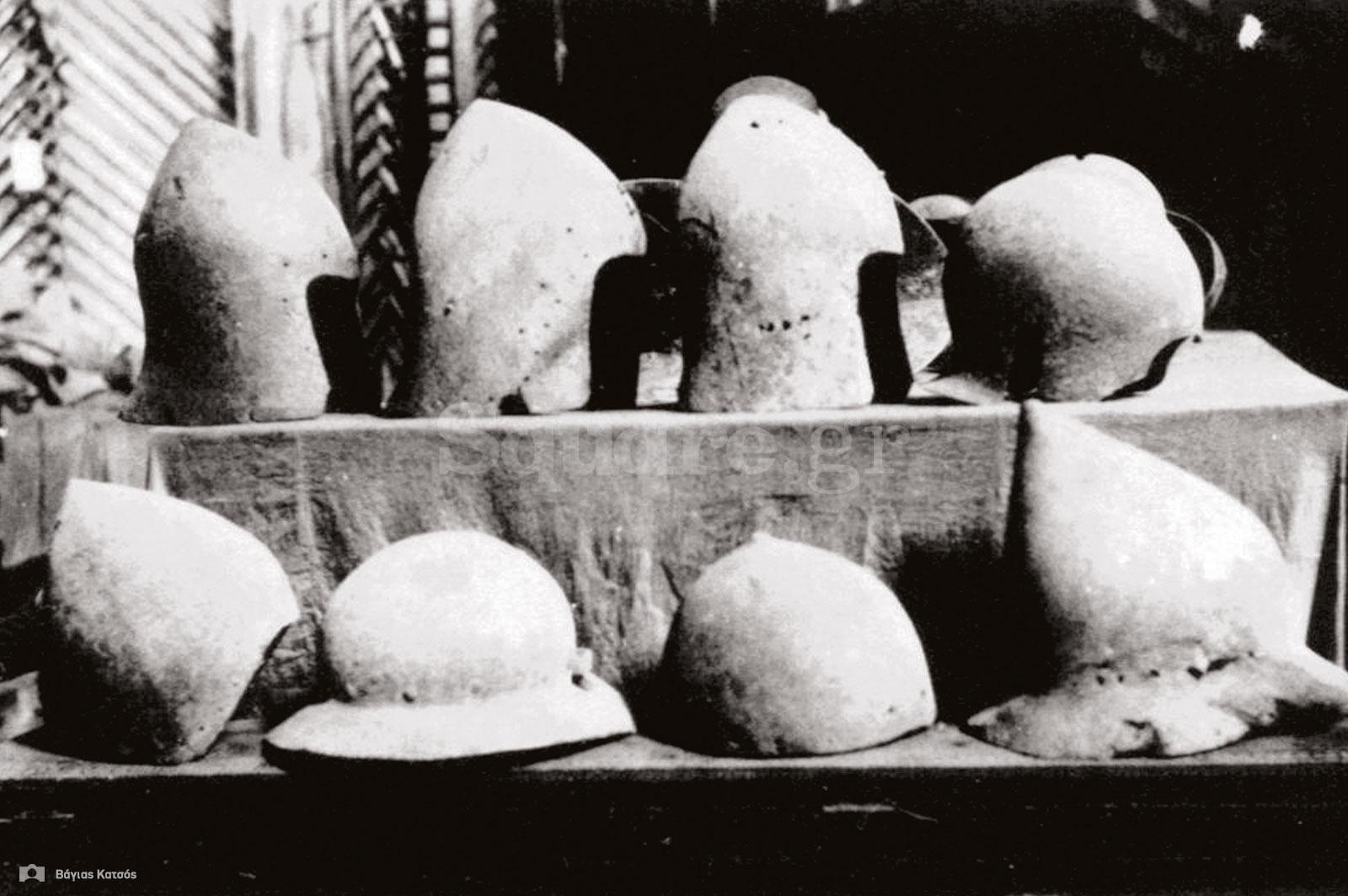 23-Η-ομάδα-των-οκτώ-μεσαιωνικών-κρανών-που-φωτογράφισε-ο-Μπάσφορντ-Ντην-στο-Οθωμανικό-Μουσείο