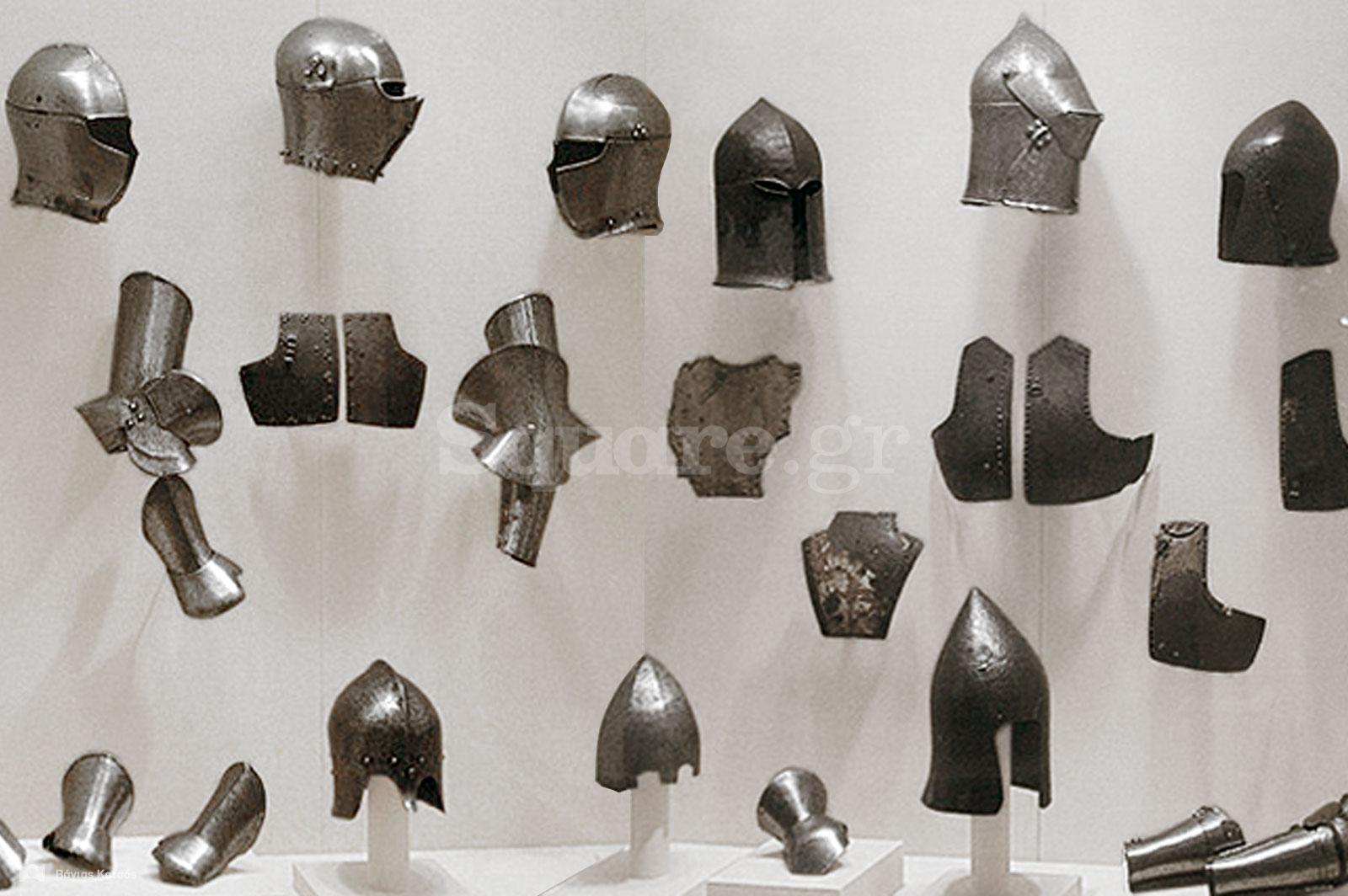 7-Κράνη-και-εξοπλισμός-πανοπλιών-από-την-μεσαιωνική-συλλογή-της-Χαλκίδας