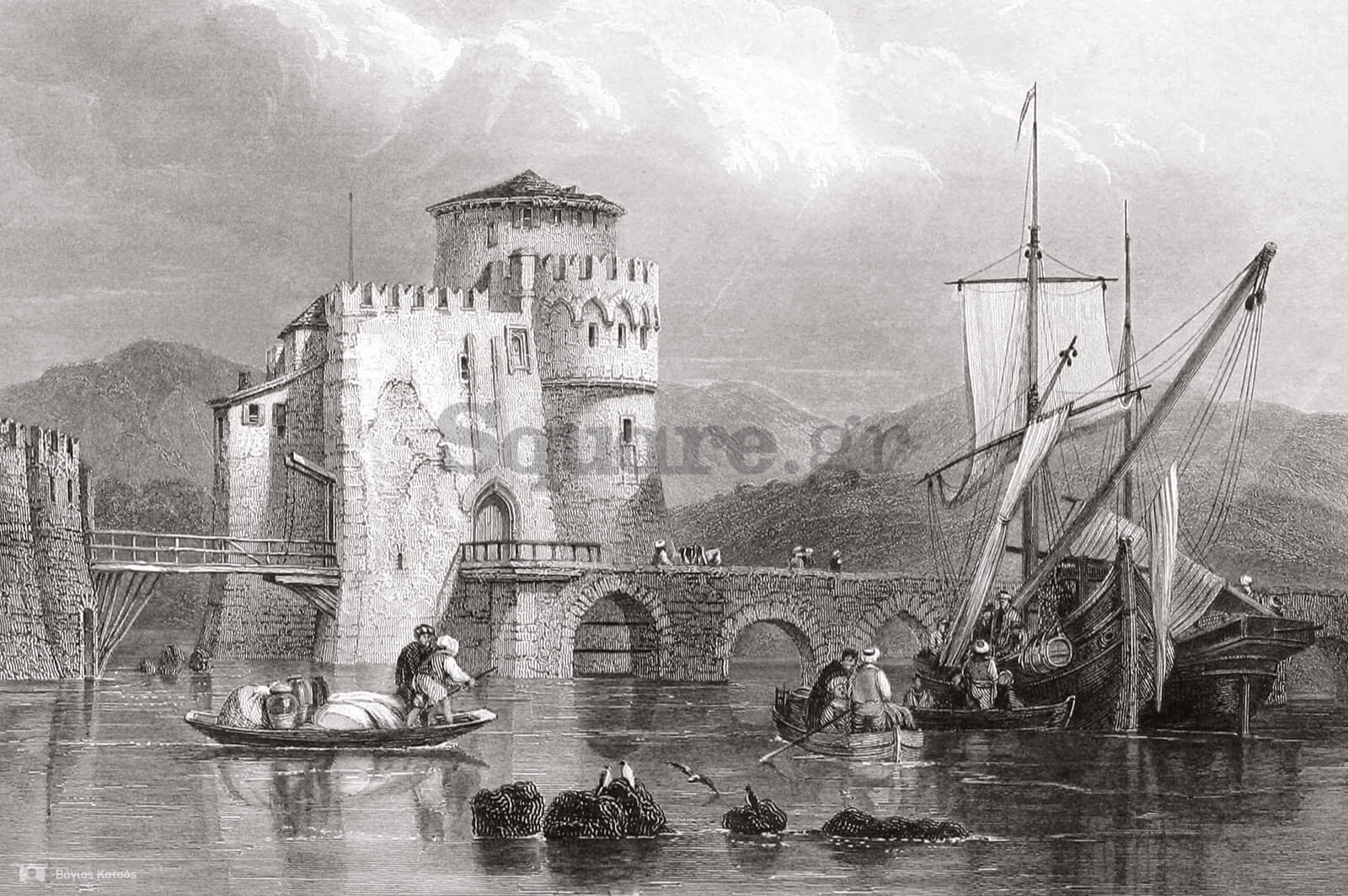 1-William-Finder,-Life-and-works-of-Lord-Byron,-1833-Γιάννης-Καράκωστας-Χαρακτικά-της-Εύβοιας