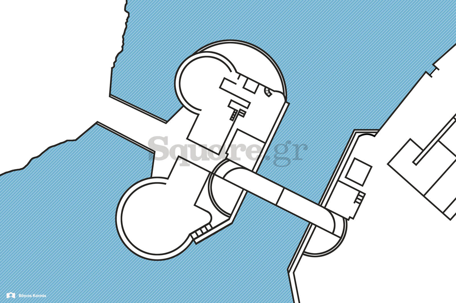 16-Κάτοψη-κάστρου-Ευρίπου-και-εκατέρωθεν-Οθωνικών-γεφυρώσεων,-βασισμένος-σε-βυθομετρικό-χάρτη-του-ναυάρχου-Αρθούρου-Μένσελ,-του-1860